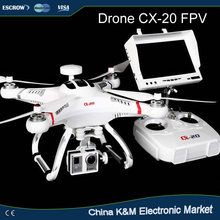 Newest Cheerson CX-20 2.4G 4-axis Professional RC Drone with HD Camera GPS & Auto Return FPV rc quadcopter