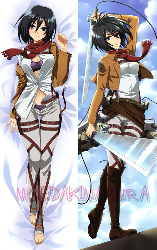 Attack Titan Dakimakura Mikasa Ackerman Anime Hugging Body Pillow Case Cover - Moe store