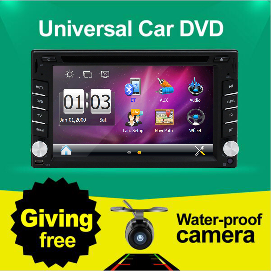 """2016 New 6.2"""" Touch Screen car dvd player gps navigation USB SD Bluetooth FM 2din in dash TFT support rear view camera input(China (Mainland))"""