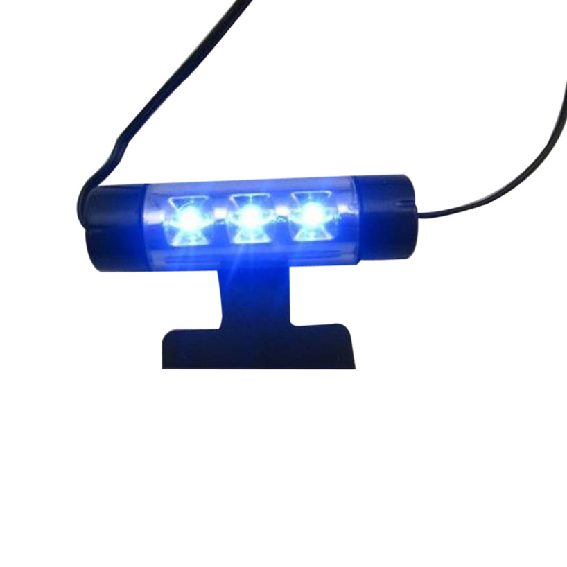 Essential 3LED Car Charge 12V 4W Glow Interior Decorative 4in1 Atmosphere Blue Light Lamp Atmosphere inside foot lamp 624(China (Mainland))