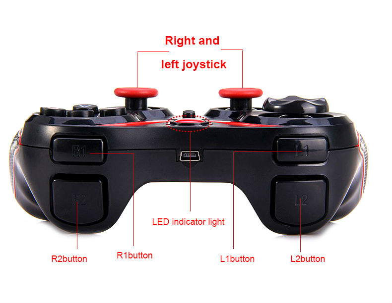 image for Bluetooth Gamepad Android Wireless Remote Controller Joystick Accessor