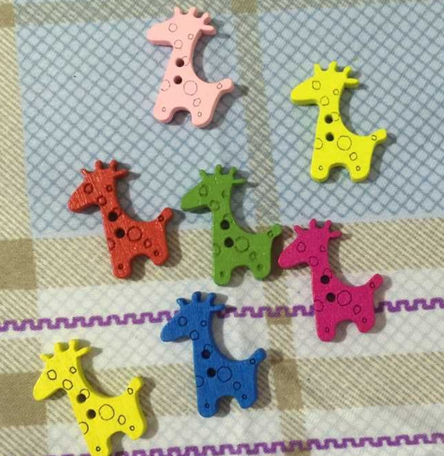 20pcs lot Colorful button Flatback DIY Wooden Buttons 2 Holes Sewing Craft Scrapbooking Fashion Accessories