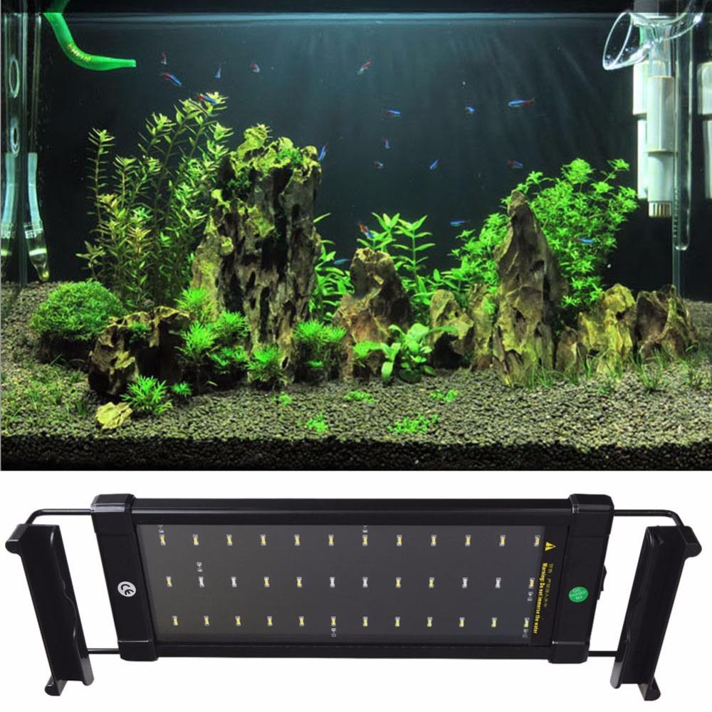 Aquarium Fish Tank SMD LED Light Lamp 6W 28 CM White + Blue 2 mode Extendable With EU Power Plug(China (Mainland))