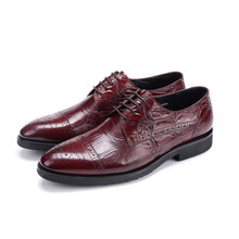 Buy New Brown tan / black oxfords business shoes mens dress shoes genuine leather wedding shoes mens formal shoes for $79.92 in AliExpress store