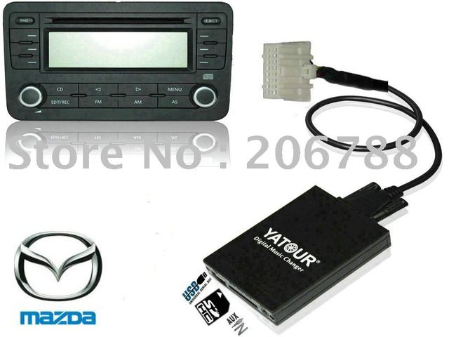 Car MP3 Integration kit(CD Changer adapter with USB SD AUX slot)  for Mazda 2008 and older
