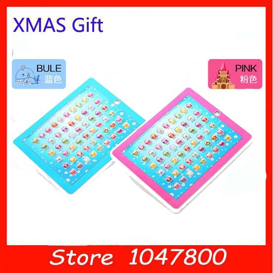 Free shipping,Y-Pad English Learning Machine,Y PAD Learning Toys For Kids,Pink and Blue Mixed,Music and Led Light,1PCS/Lot(China (Mainland))