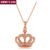 Top Quality Queen's Crown 18K Rose Gold Plated Fashion Pendant Jewelry Made with Austria Crystal  Wholesale ZYN169 ZYN237