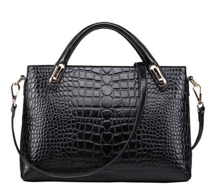 Genuine Leather Bags Cowhide Bags Womens Fashion Handbag Shoulder Handbag Crocodile Pattern Bags<br><br>Aliexpress