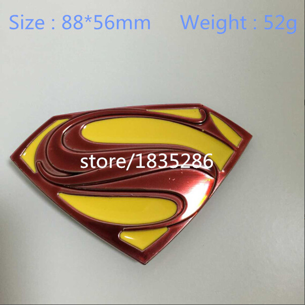 2015 New Arrival 1pcs high quality Stylish men Superman logo Cool personality Metal Super hero belt buckle fit 4cm wideth belt(China (Mainland))