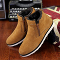 Suede ankle boots zip women shoes cheap snow boots big size 6 15 solid rubber boots