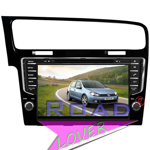 9'' 1 Din Auto GPS Navigation for Vw Golf 7 2013 Car Audio Radio Video Stereo DVD TV Bluetooth Ipod RDS AUX Free shipping(China (Mainland))
