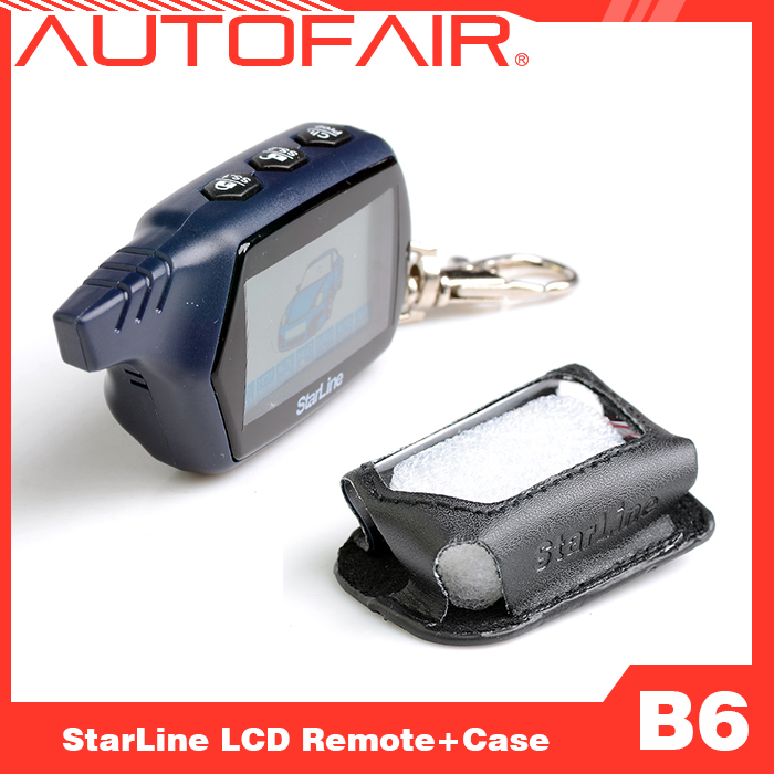 LCD remote controller + case two way car alarm Star line B6 2-way keychain - AUTOFAIR Store store
