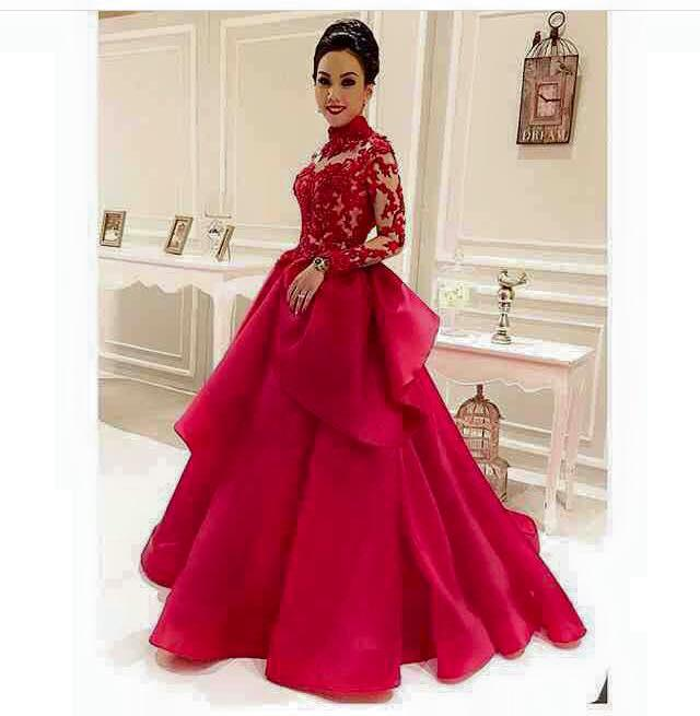Turmec » red princess ball gown prom dresses