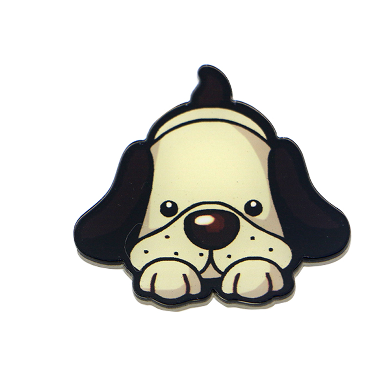 1 pcs Creative Cartoon Famous dog figure magnetic stickers Acrylic Fridge Magnets Home Decor Refrigerator Sticker wholesale