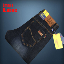 2016 Brand Jmaxs LEE Mens Jeans Dark Blue Color Top Quality Straight Jeans For Men Printed