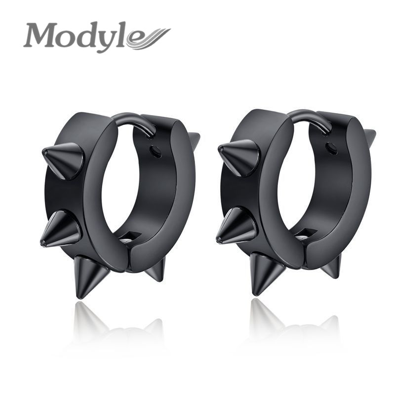 Fashion Round Luxury Earring Women Big Brand Trendy Stainless Steel Dog Collar Stud - Modyle Jewelry store