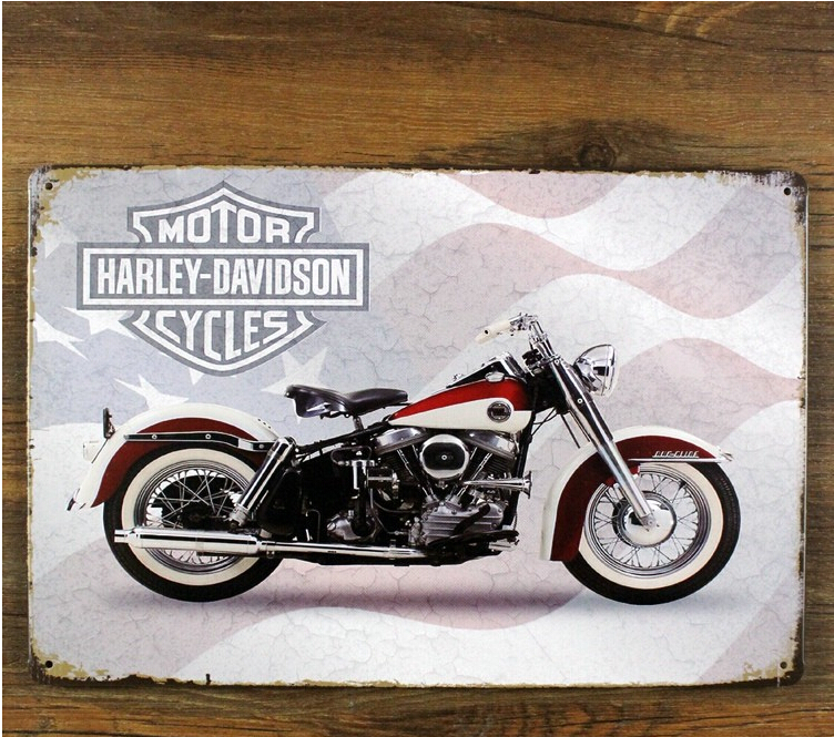 Motorcycle METAL POSTER Retro Wall Plaque Vintage Painting Pub Decor 20*30CM Metal Tin Sign(China (Mainland))