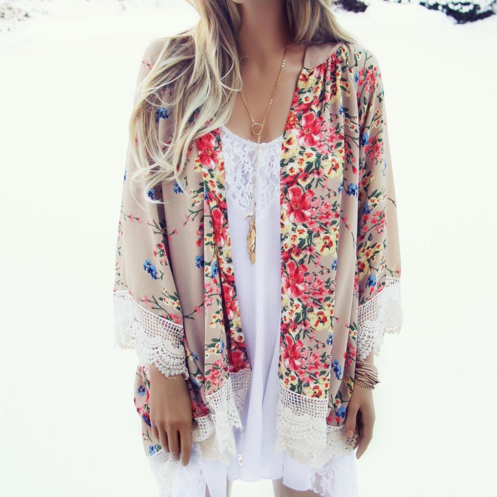 Женские блузки и Рубашки Summer women kimono 2015 camisas femininas blusas