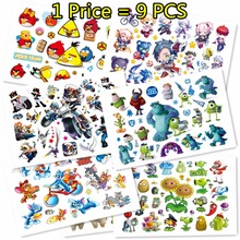 Buy SHNAPIGN 9 pcs/lot Cute Bird cat monster Temporary Body Arts, Flash Tattoo Stickers 17*10cm, Waterproof Children Loves Toy Tatoo for $4.46 in AliExpress store