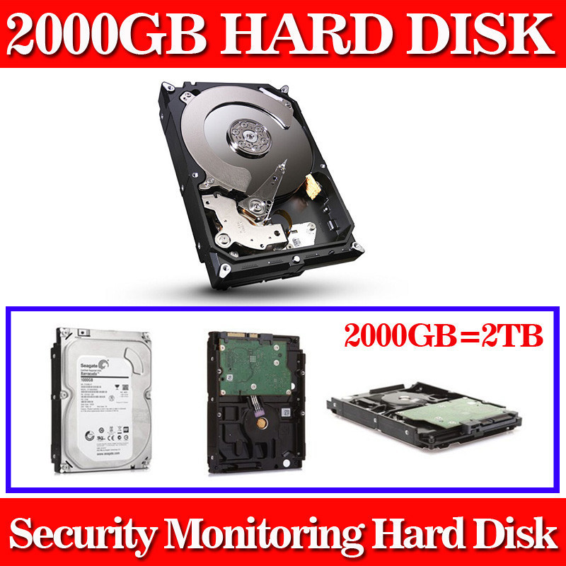 New 2000GB 3.5 inch SATA monitoring Hard Drive Hard Disk 64MB 7200rpm for Standalone DVR recorder cctv system+Free shipping<br><br>Aliexpress