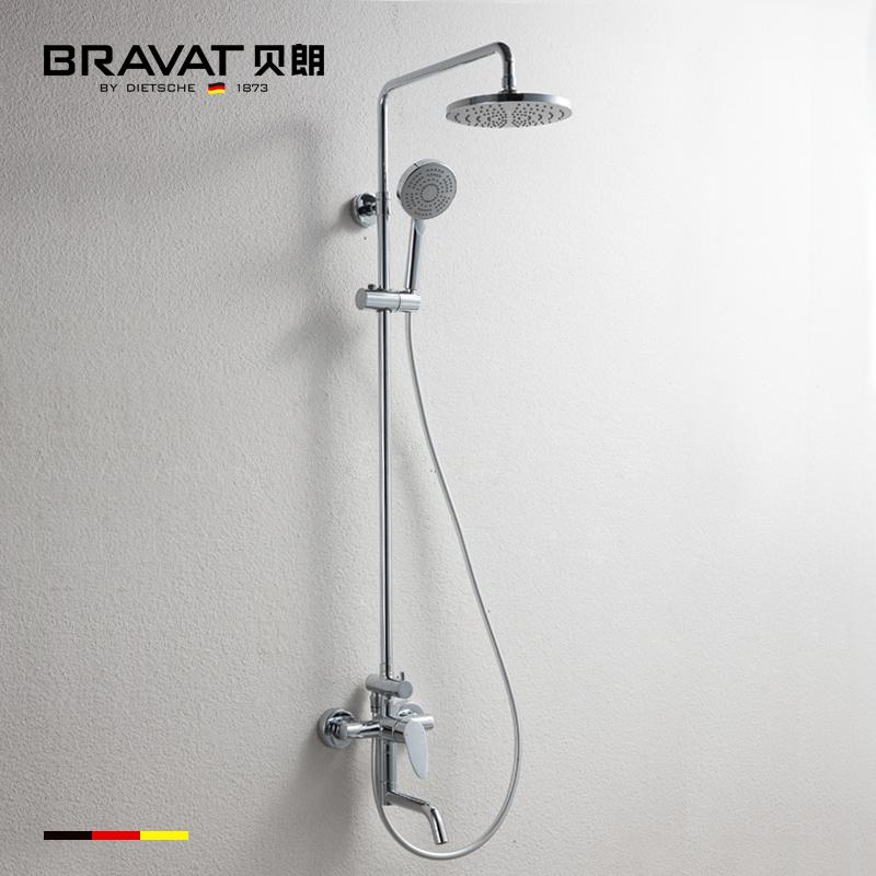German series shower set copper bibcock batroom shower bath panel set shower faucet bronze rainfall shower head(China (Mainland))