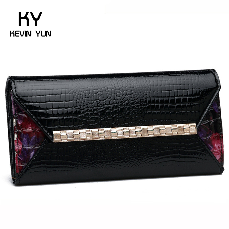 Fashion women wallets long designer purse female clutch patent leather wallet(China (Mainland))