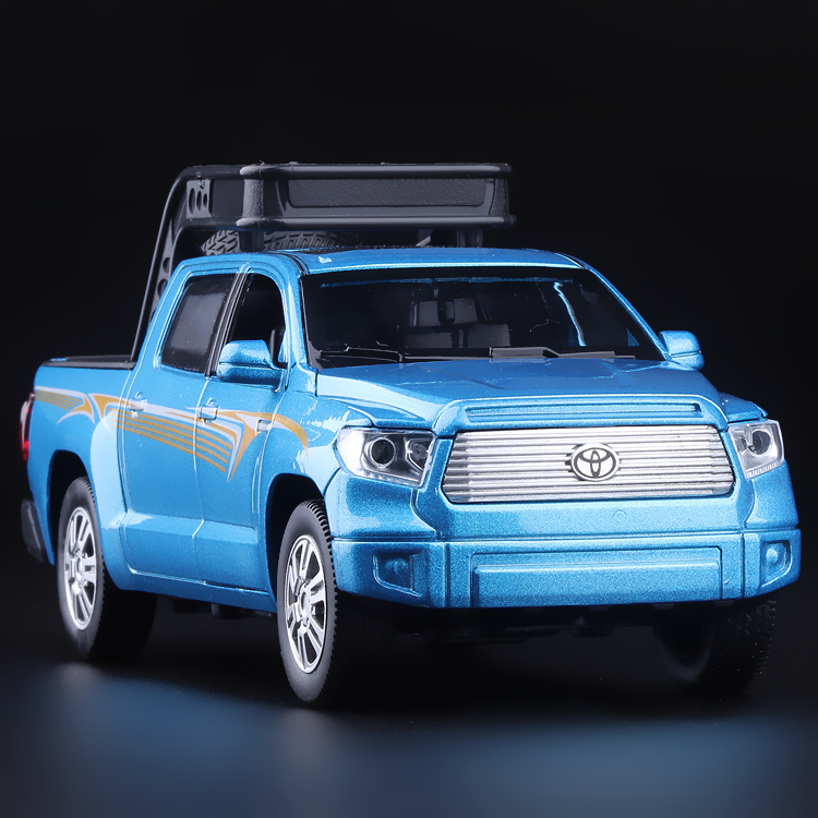 High Simulation Exquisite Model Toys Double Horses Car Styling TOYOTA Tundra Pickup Trucks Model 1:32 Alloy Car Model Best Gift(China (Mainland))