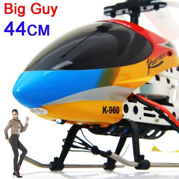 Free Shipping 3.5ch big guy 44cm helicopter with gyro & lights /radio control helicopter(China (Mainland))