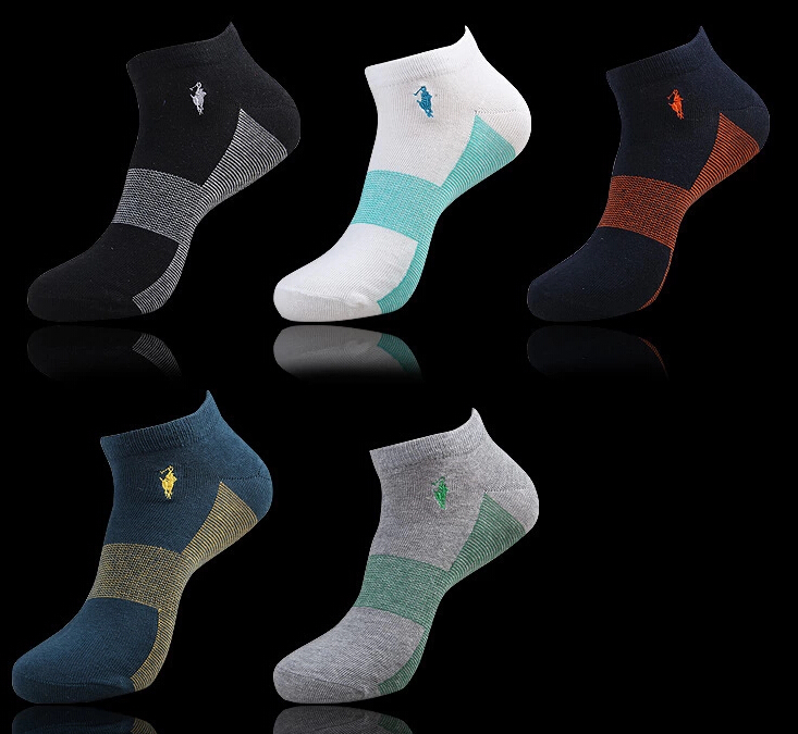 New Arrival men Socks high quality Men's Polo Socks Brand Sport cotton Sock 5 color 10pieces=5pairs=lot,Free Shipping(China (Mainland))