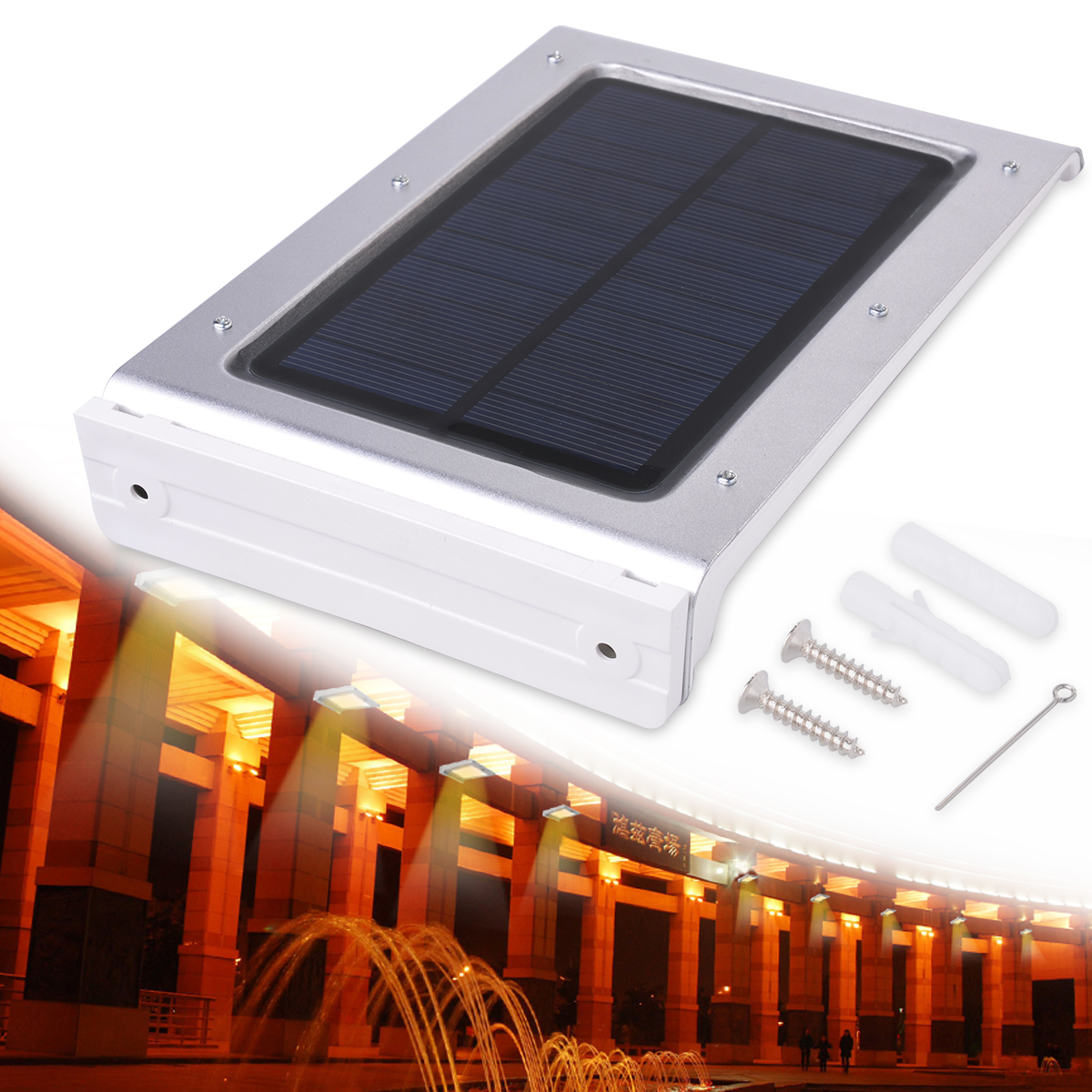 de jardim a energia solar25LED 55 V 15 W de energia Solar