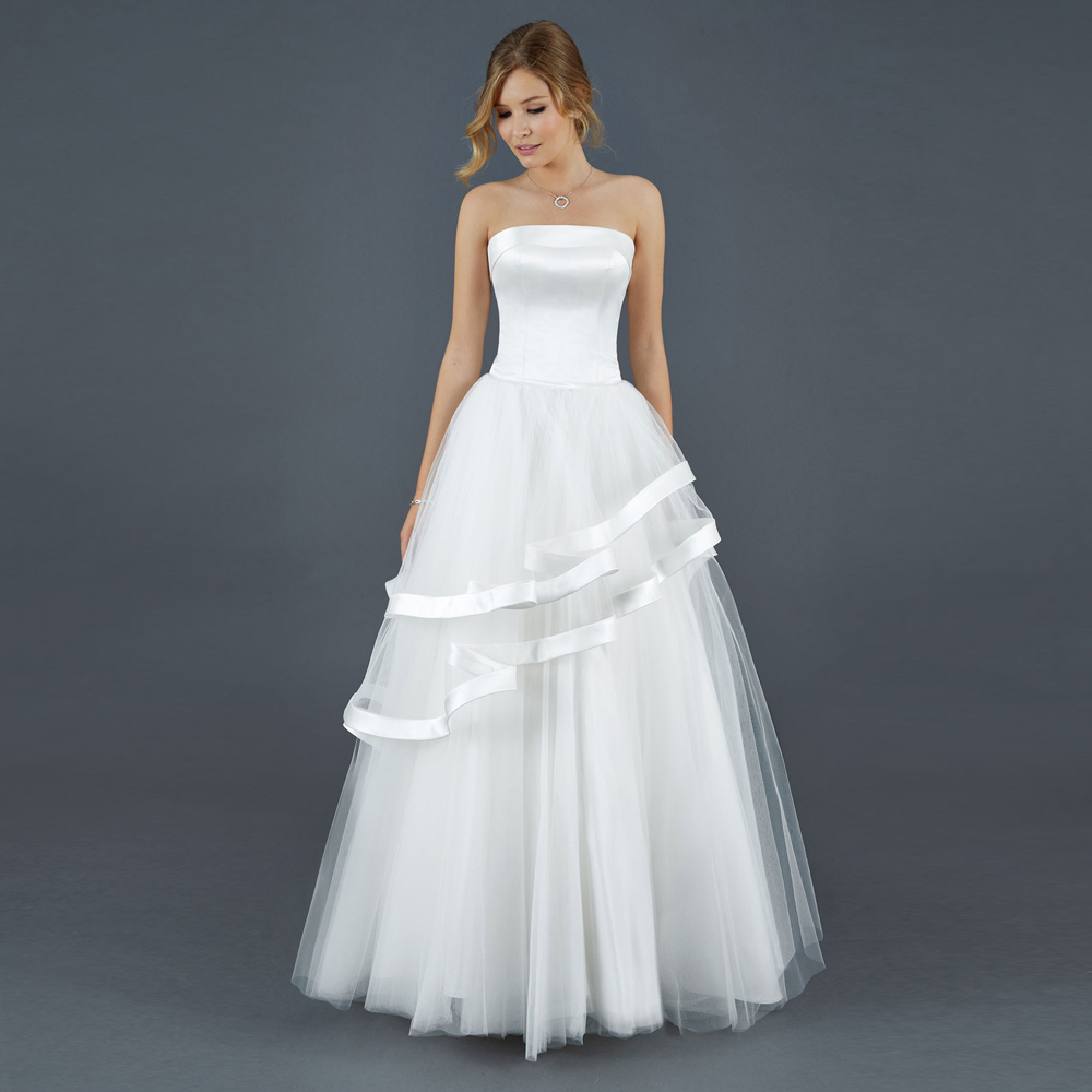 Модный винтаж простой стиль свадебное платье сексуальная без бретелек линии свадебные платья 2015 vestidos novia белого тюля