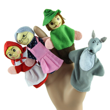 New 4PCS/Set Little Red Riding Hood Christmas Animal Finger Puppet toy Educational Toys Storytelling Doll best deal 1pcs(China (Mainland))