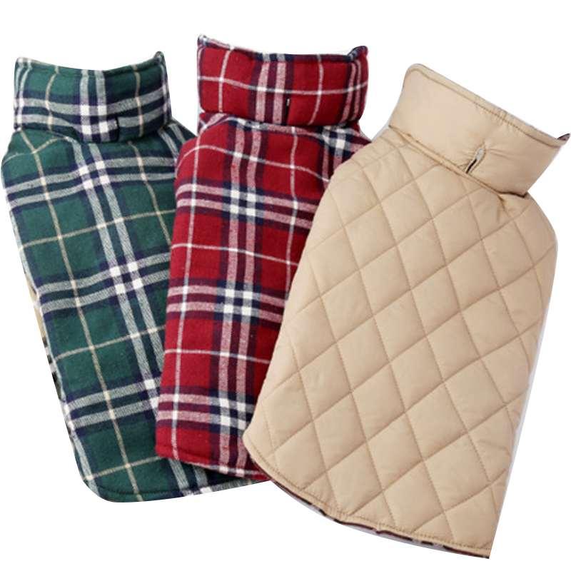 New brand 3colors Reversible Dog Jacket Designer Warm Winter Dog Coats Pet Winter Clothes Elastic(China (Mainland))