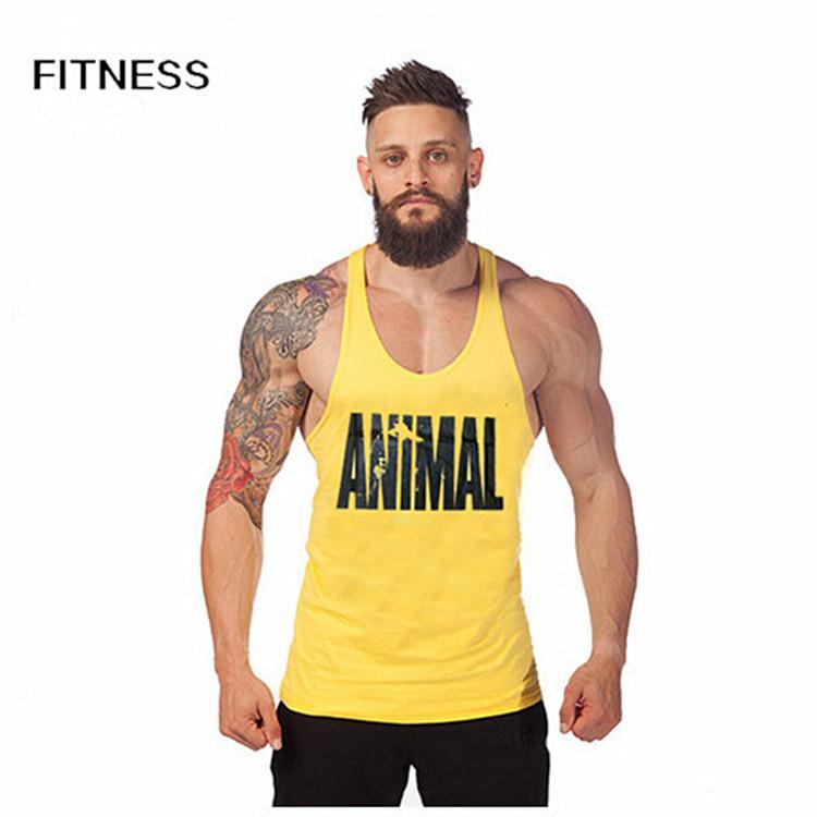 Animal Gym Tank Tops Stringer Men's Singlets Bodybuilding Vest Fitness Men's Sleeveless Shirt Sports Clothes(China (Mainland))