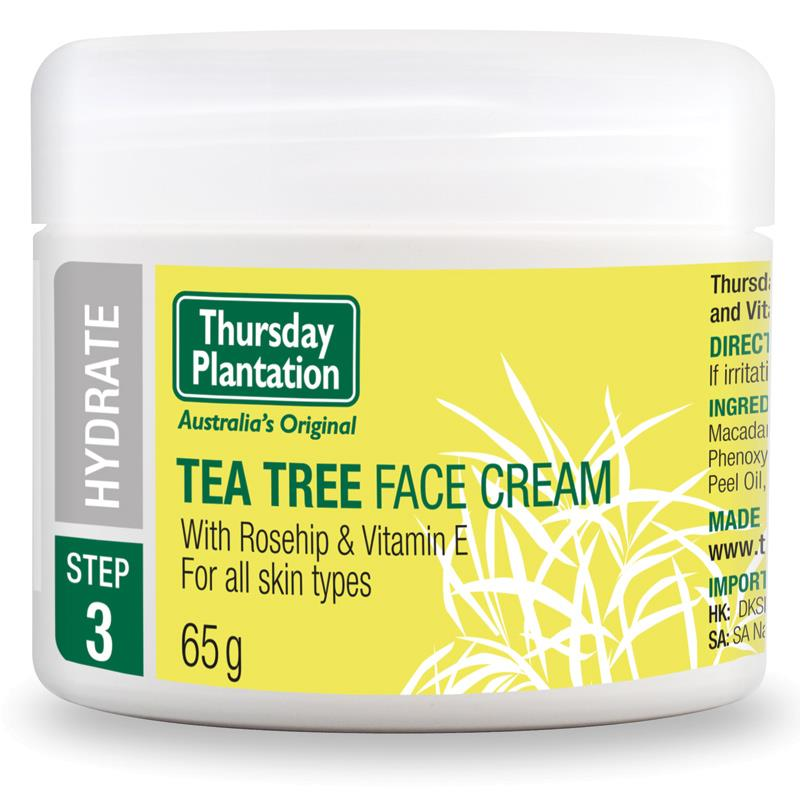 Thursday Plantation Tea Tree Face Cream 65g moisturise and maintain clear skin Hydrates skin without clogging