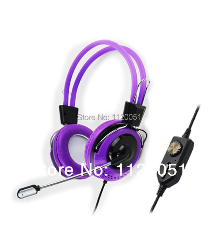 Beautiful and fashion headphone for games with microphone KT-5000MV send with tracking code(China (Mainland))