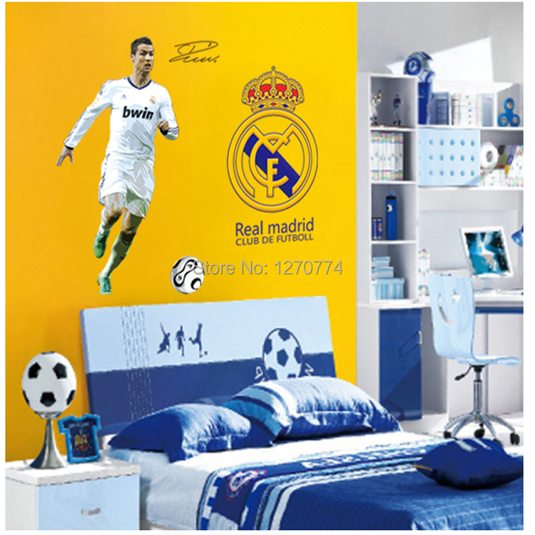 play football wall sticker world cup 2014 football poster wall stickers for bedroom to enhance room design home