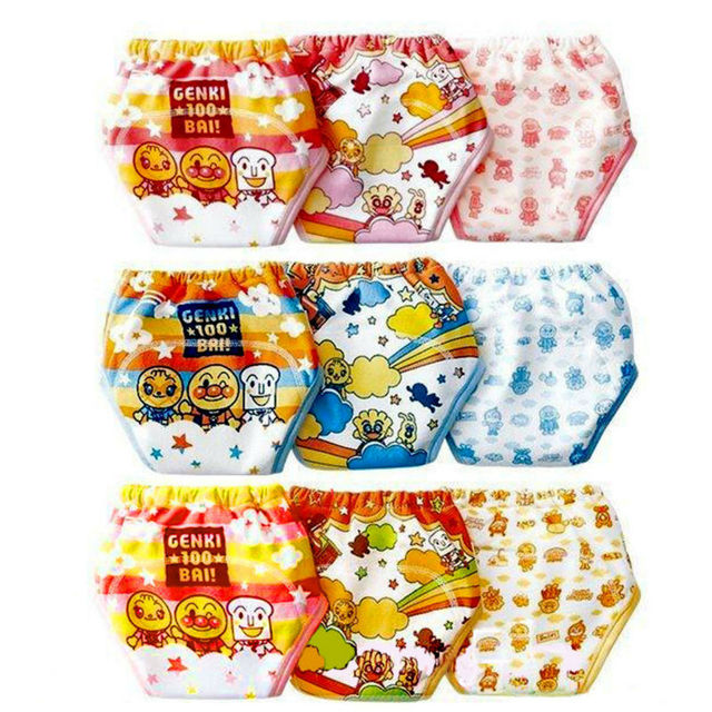 Promotion 9pcs/lot New Training Pants 3 layers Baby Boys Girls Underwears Diapers Nappies Infant Short Pants #002