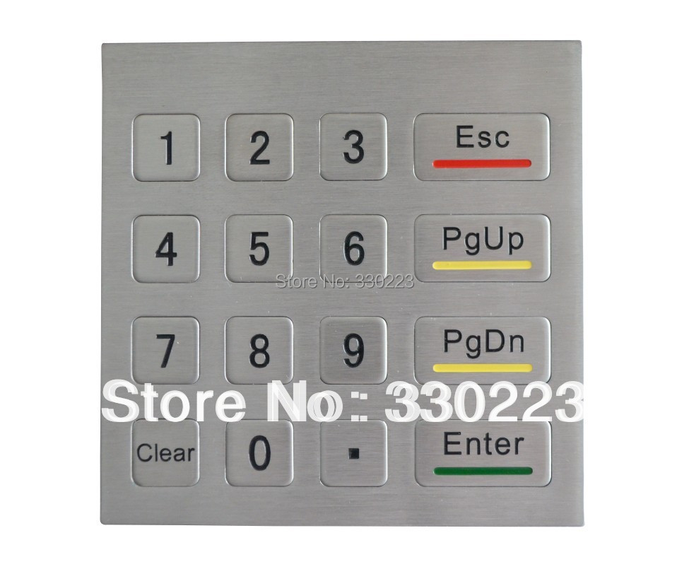 Metal Numeric Keypad with 16Keys PCI Keyboard with Explosion-proof