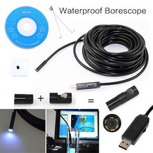 7mm 1M/1.5M/3.5M/5M 480P Mini Endoscope Borescope Mini Camera 1.3 MP  IP67 USB Inspection Tube Pipe  For OTG Android/PC Laptop(China (Mainland))