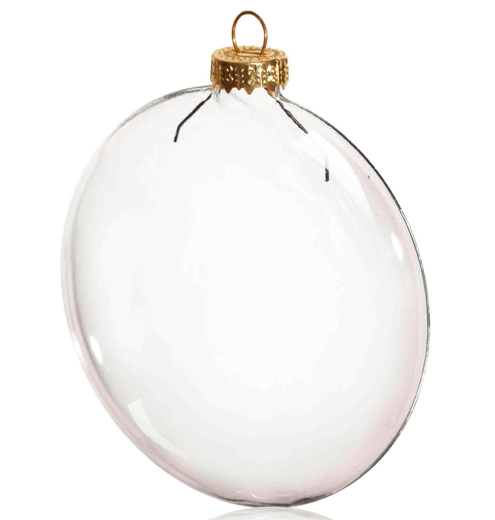 High quality wholesale clear glass ball christmas