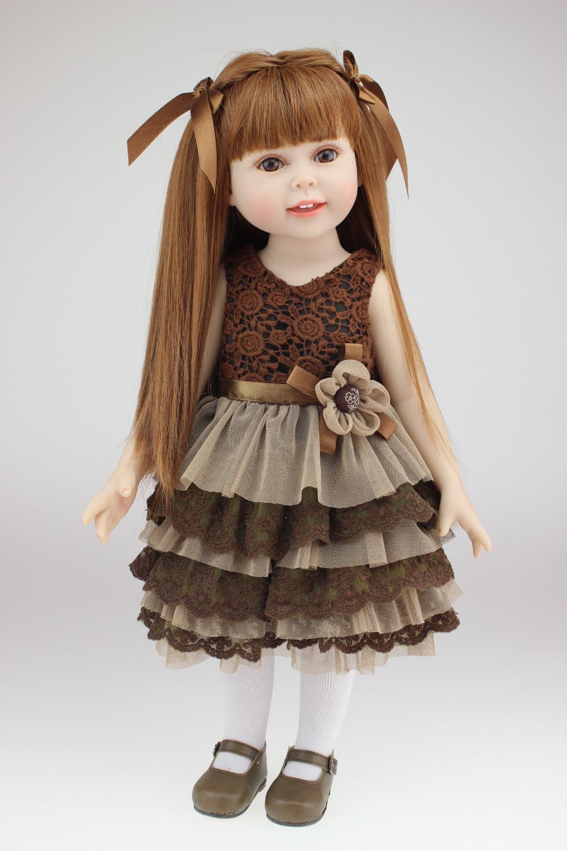 18 inch American Girl Doll Fashion Reborn Baby Toys Chilldren Birthday Gift Valentine's Day Dolls Blonde(China (Mainland))