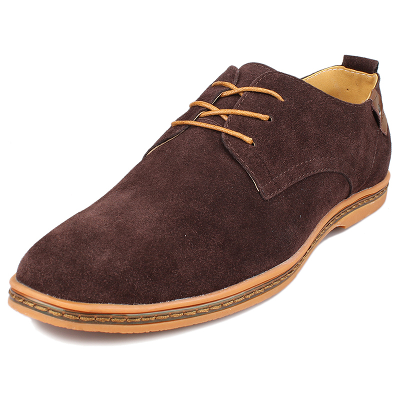 Fashionable Mens Loafers With Suede And Flat Design