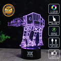 Star Wars Death Star Lamp AT AT BB 8 3D Lamp LED Novelty Night Lights USB