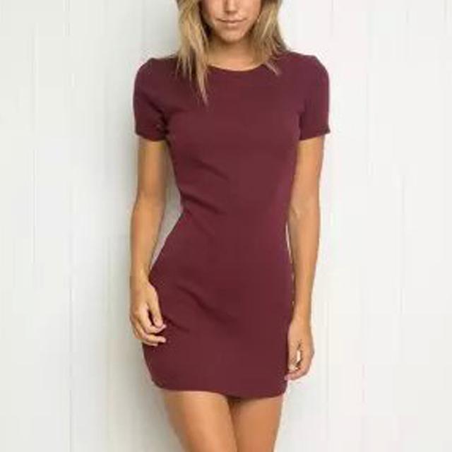 Сексуальная а . а . бренди стиль темы упругой тонкий оболочка мини платье модный женщины с коротким рукавом о-образным вырезом роковой 6 цвет