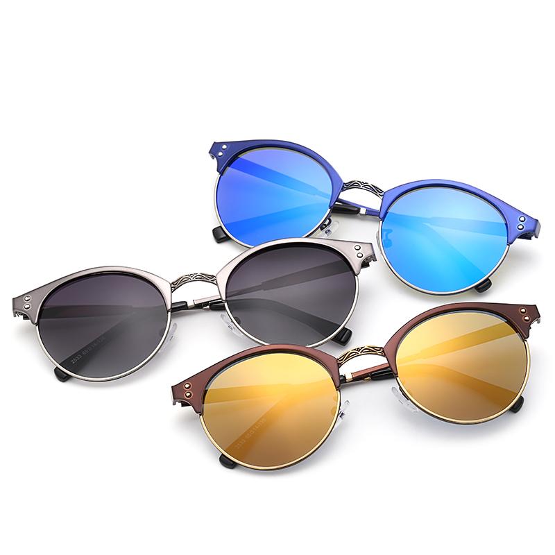 New style sunglasses women round mirror metal frame mens luxury brand designer sunglasses polarized sunglass gafas de sol 2533(China (Mainland))