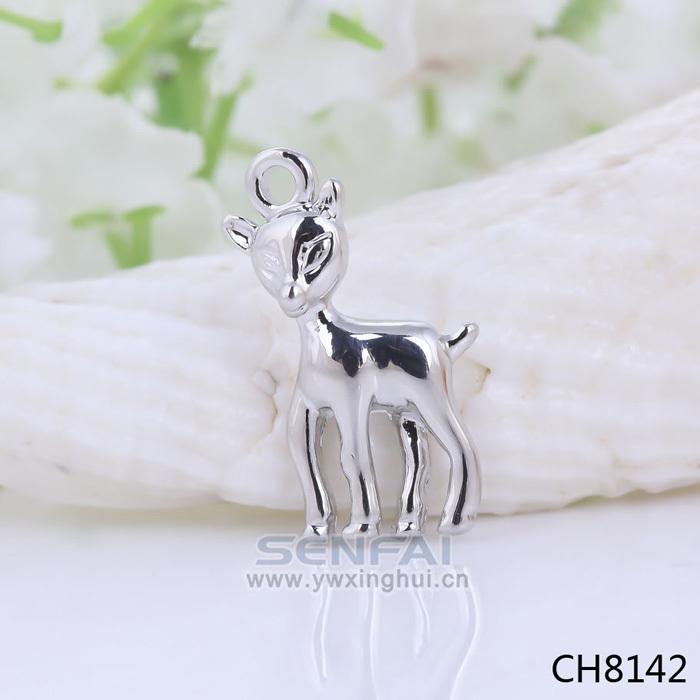 Deer Charm Bracelet Silver Plated Deer Charms