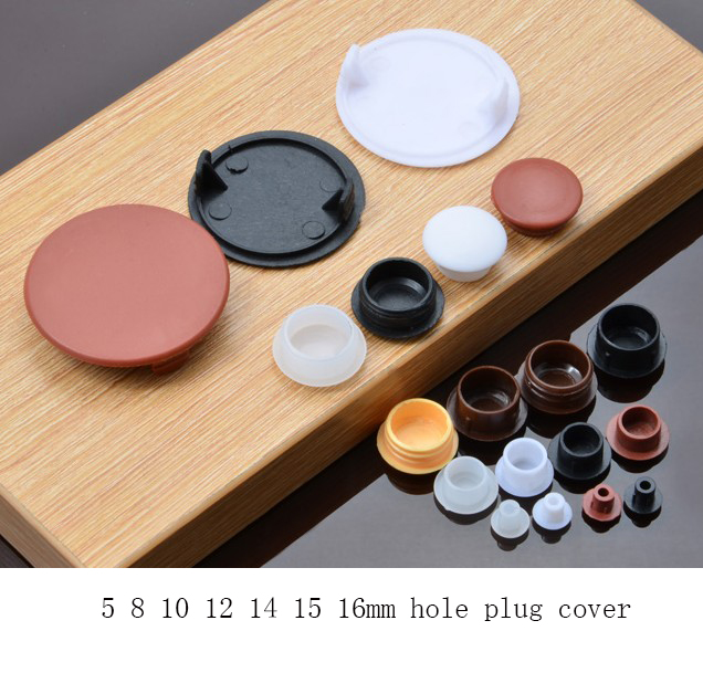 5 8 10 12 14 15 16mm furniture hole plug decoration cap for 1 furniture hole cover