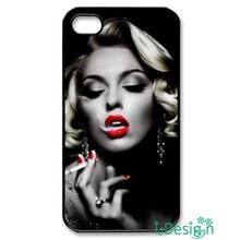 Fit for iphone 4 4s 5 5s 5c se 6 6s plus ipod touch 4/5/6 back skins cellphone case cover Smoking Beauty Marilyn Monroe