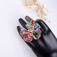 New high quality female perfect fine crystal ring R035(China (Mainland))